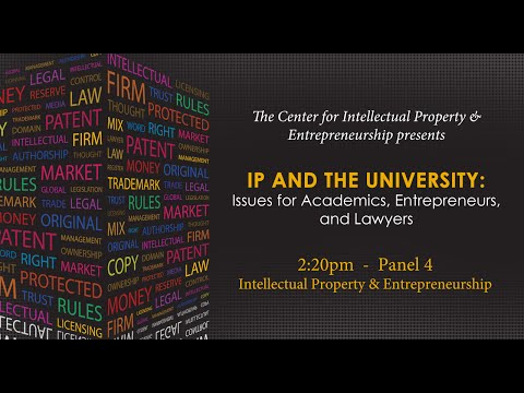 Panel 4 - Intellectual Property & Entrepreneurship