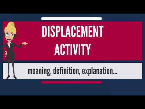 What is DISPLACEMENT ACTIVITY? What does DISPLACEMENT ACTIVITY mean? DISPLACEMENT ACTIVITY meaning