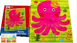 Octopus | Puzzle Game | Pink Octopus Adorabilis Puzzle