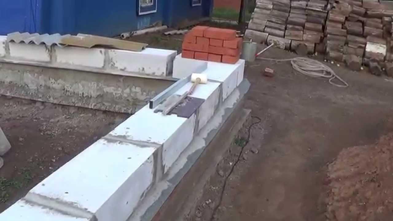 Укладка газобетона своими руками видео