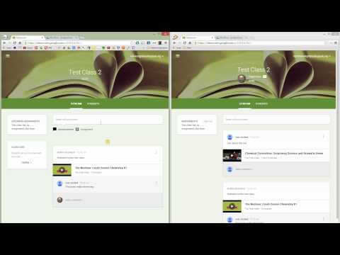 Google Classroom - Teacher and Student view