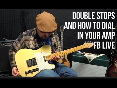 Double Stop Blues Licks and How to Dial in an Amp | FB Live ReBroadcast Marty Schwartz