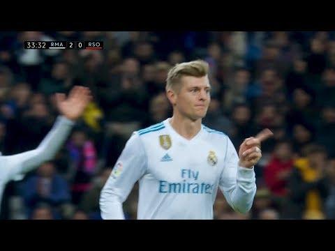 Toni Kroos vs Real Sociedad (H) 17-18 1080i HD (10/02/2018)