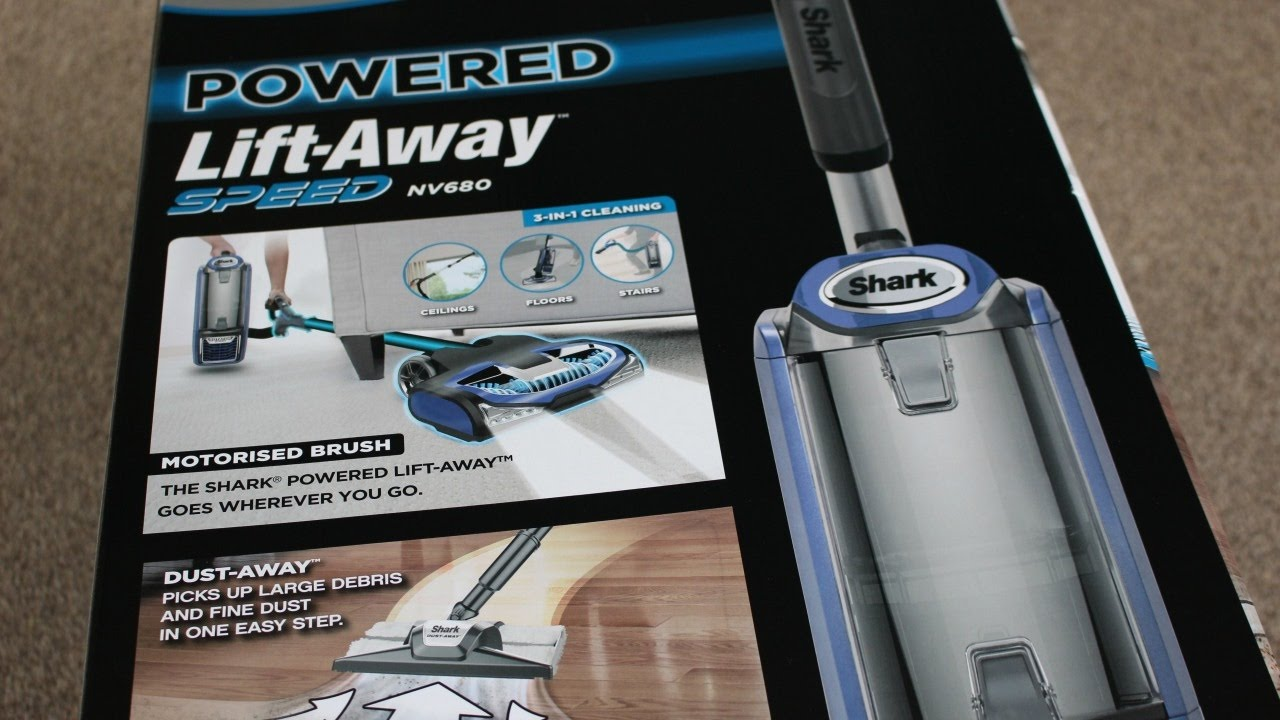 shark powered lift away nv680uk bagless upright vacuum cleaner - Shark Vacuum Cleaner
