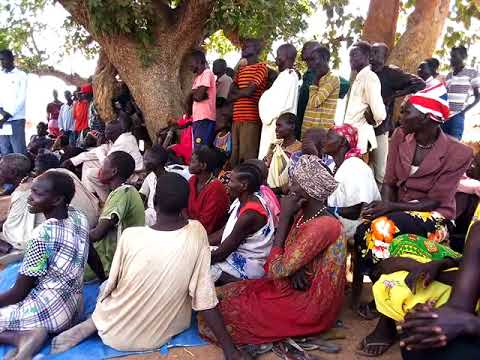 Community gathering during CIDA UNMISS Project Launching