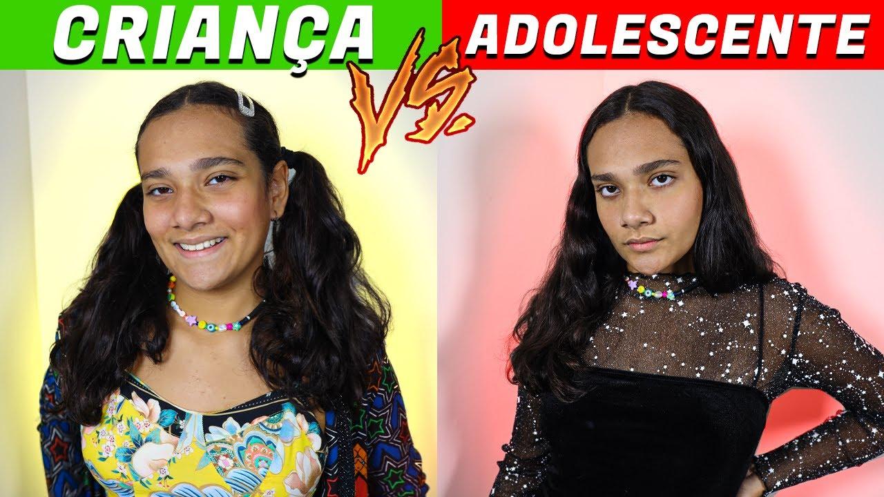 CRIANÇA VS ADOLESCENTE! - JULIANA BALTAR #SHORTS