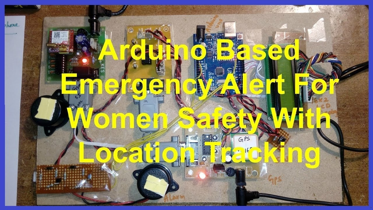 Emergency Alert For Women Safety With Location Tracking Using Schematic Diagram Of Wlan And Gps Circuit Arduino