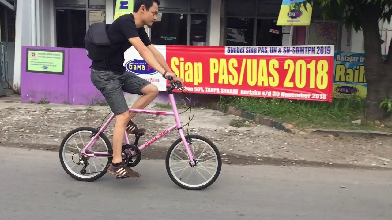 Mini Velo Omstar Bmx A200 Solo Indonesia Cycling Channel Youtube