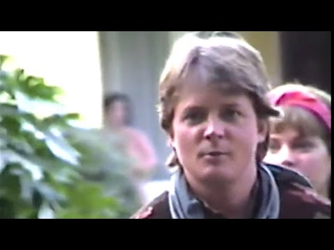 """While """"Back to the Future Part III"""" was being filmed at 9303 Roslyndale Avenue in Pacoima, CA, a next-door neighbor filmed 20 minutes of video from her front yard and living room"""
