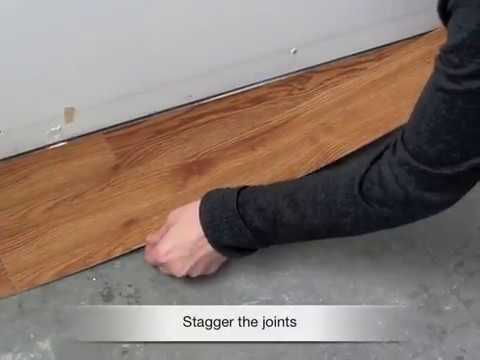 Peel And Stick Vinyl Plank Installation Youtube
