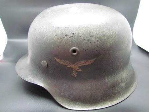 Original WW2 German Luftwaffe Nazi M42 Steel Helmet - Stahlhelm