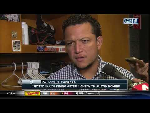 Miguel Cabrera on his fight with Austin Romine & Gary Sanchez