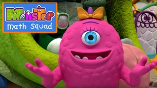 Monster Math Squad | 105 | Garbage Monster Delivers | Learning Numbers Series | Learning for Kids