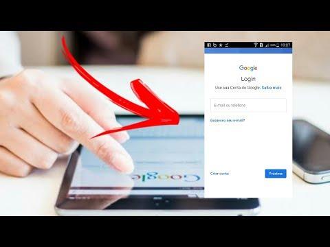 Como fazer login na conta do Google