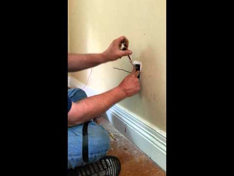 How to work with a live wire