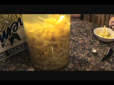 How To Make Lemoncello Authentic Sicilian Limoncello Recipe From Sicily Youtube