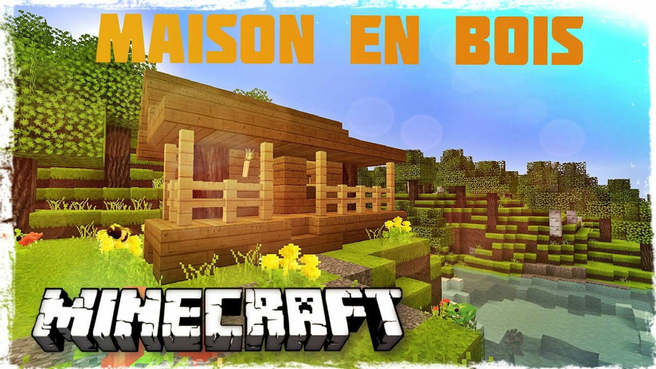tuto minecraft comment faire une belle maison en bois youtube. Black Bedroom Furniture Sets. Home Design Ideas