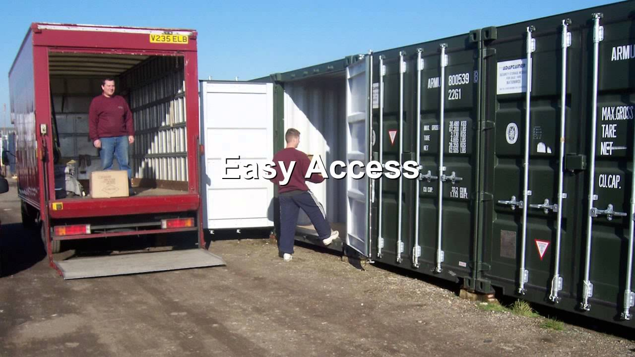 Cheap Self Storage Containers For Hire New Barn Kent YouTube