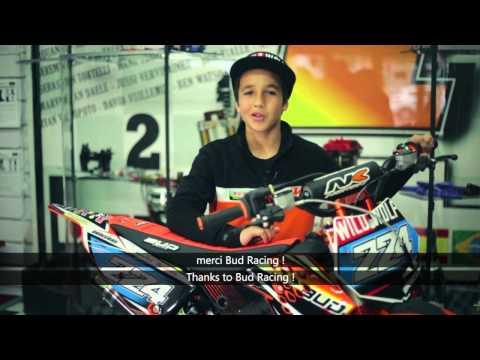 Bud Racing 10 years old MX rider : David Braceras