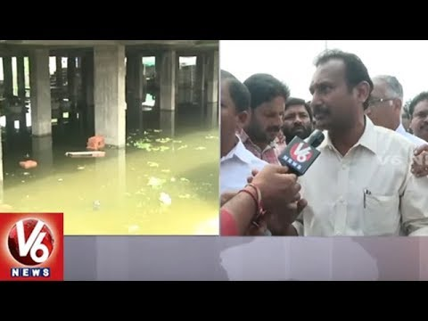 Ramanthapur Lake Encroach: Surround Colonies Submerged With Rain Water | Hyderabad | V6 News