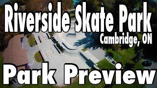 (HD) Riverside Skate Park - Park Preview Drone Fly-By | Ontario Skateparks