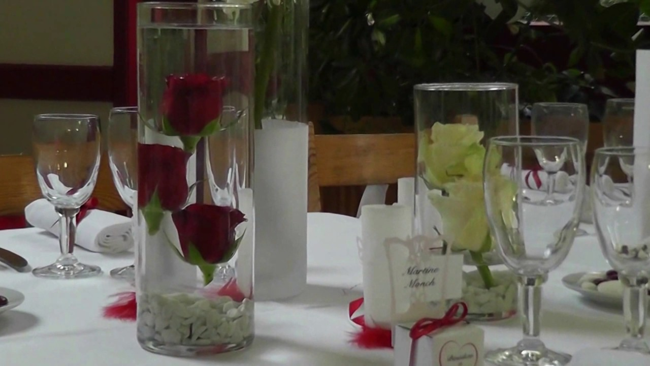 Affordable wedding decoration ideas – Red & white colors –
