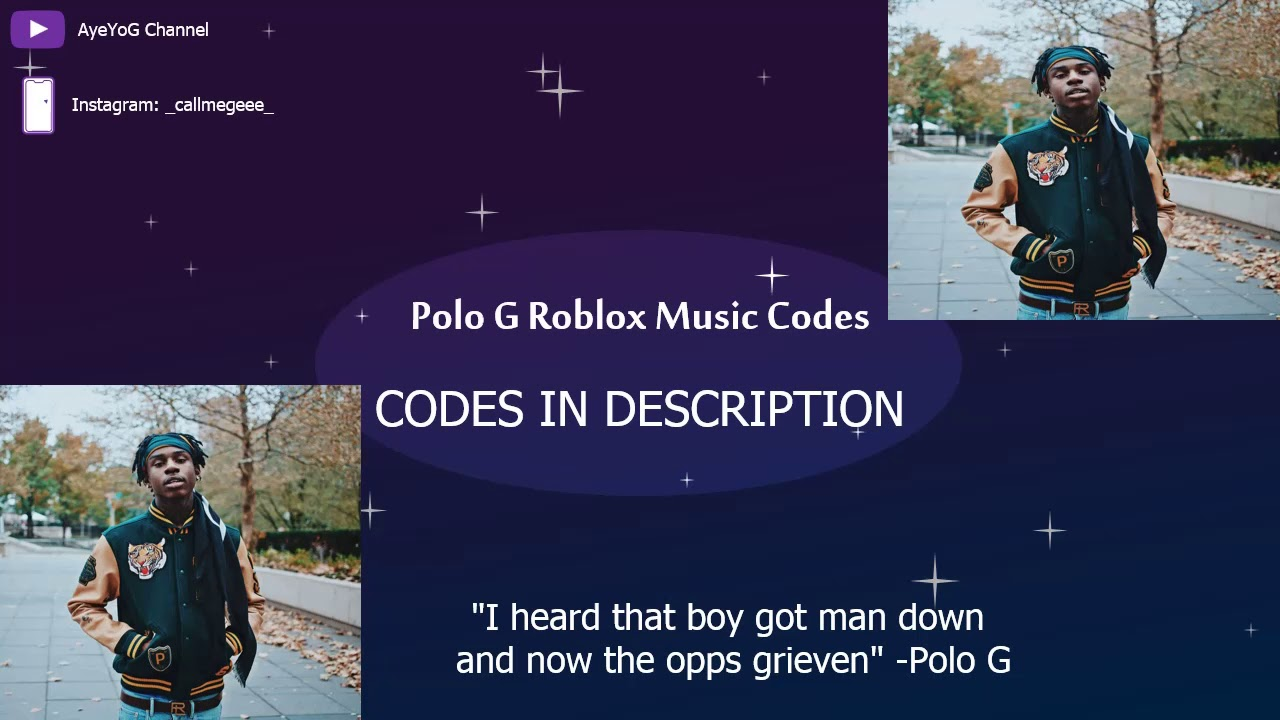 New Polo G Roblox Music Codes Youtube