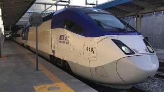 ソウル行き上りKTX山川810号 江陵駅発車