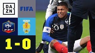 Verletzter Kylian Mbappe überschattet Sieg: Frankreich - Uruguay 1:0   Testspiel   DAZN Highlights