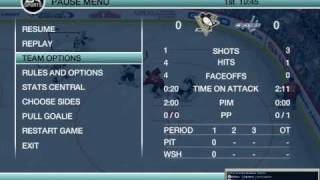 caps vs penguins. nhl 09 pc with mods
