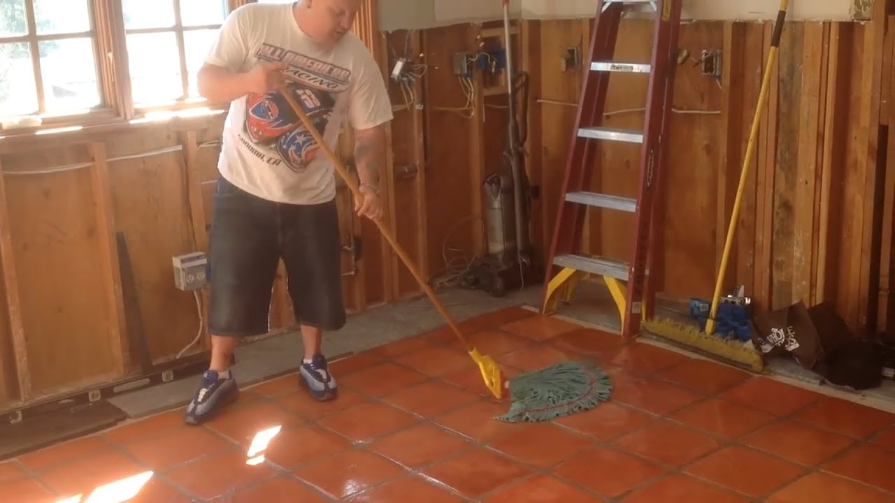 How to seal saltillo tile after staining youtube dailygadgetfo Gallery