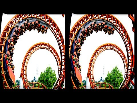 3D ROLLER COASTER - TOP20 VR  | 3D Side By Side SBS Google C