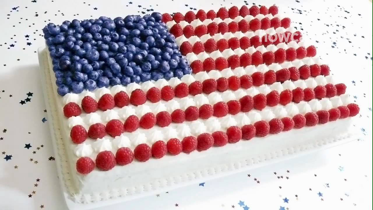 How To Make A Flag Cake Youtube