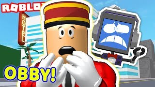 ESCAPE EVIL HOTEL OBBY in Roblox! 🔪😈 Part 2 ► Fandroid the Musical Robot!
