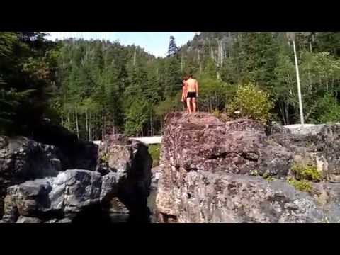 Swimming Hole 4Hwy Kennedy River Vancouver Island : Van Dwelling