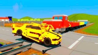 Unstoppable Massive LEGO Train Wrecks - Brick Rigs Smasher Gameplay #3