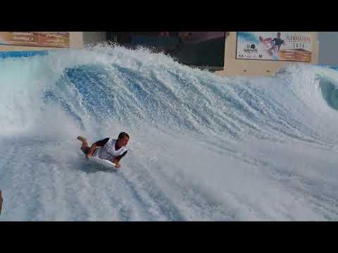 Best riders on the FlowRider Flow Barrel at Yas Waterworld Waterpark in Abu Dhabi Dubai UAE(1)