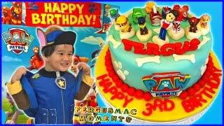 Paw Patrol Chase Birthday Costume - A FergusMac 3rd Birthday Pawty Fun Part 1