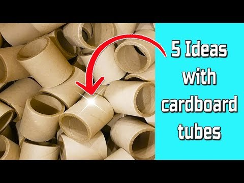 5 Ideas with cardboard tubes - Ecobrisa DIY