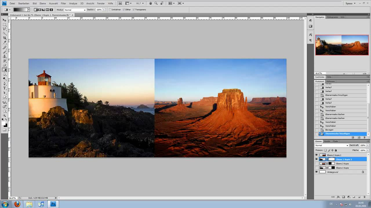 Adobe Photoshop Tutorial - Bildübergang (2 Bilder ...