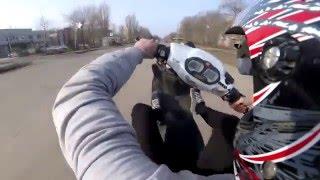 Покатушка на Stels tactic Athena Sport 70cc + yasuni c16