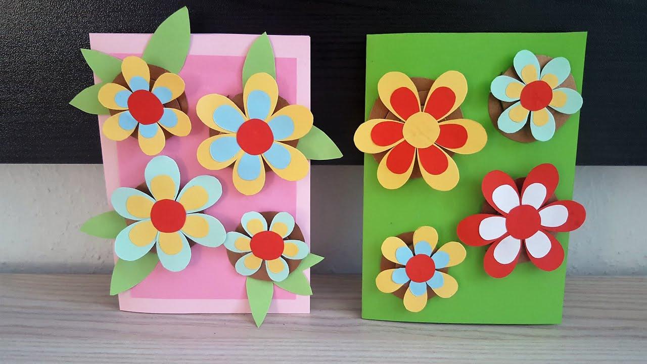 geburtstagskarte mit 3d blumen basteln diy handmade crafts 3dflowers birthday card youtube