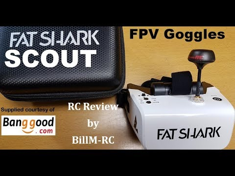 Fatshark Scout FPV Goggles review - 4 Inch 1136x640 Display, Diversity &  DVR