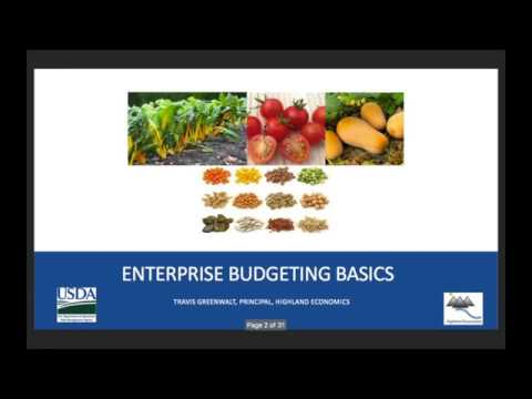 Seed Economic Intensive Part 4: Enterprise Budgets