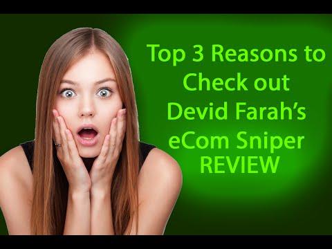 eCom Sniper Review - A LEGIT Look at Devid Farah's Latest Course