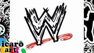 como dibujar el logo de la wwe | how to draw the wwe logo