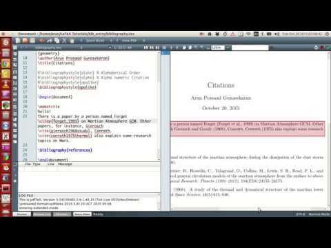 How to Write a Thesis in LaTeX pt 4 - Bibliographies with Biblatex