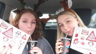 CHRISTMAS DRIVE WITH ME / MUKBANG with Ellie!!