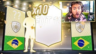 THIS IS WHAT I GOT IN 10 ICON PACKS!! FIFA 19