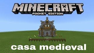 minecraft pe medieval casa